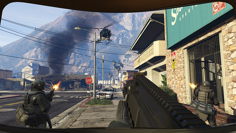 gta v first person view