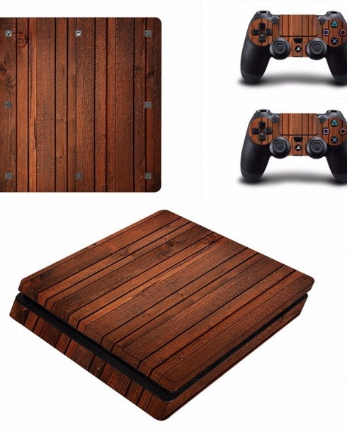 Wooden Sticker for PS4 Slim