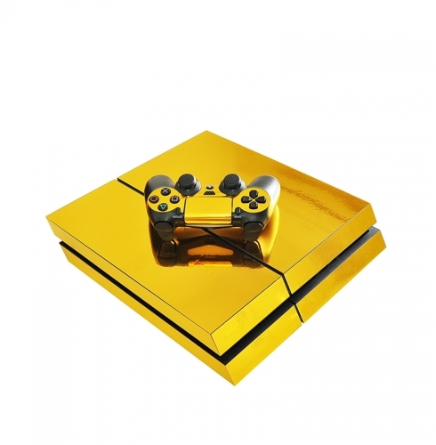 PS4 Gold Metal Sticker
