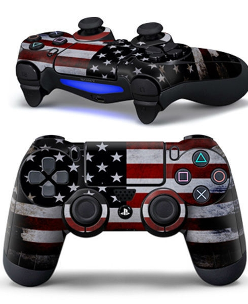 Dualshock 4 USA Flag Sticker