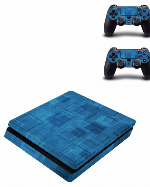 Wall Blue Sticker for PS4 Slim